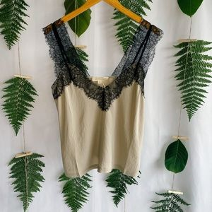 Lingerie Inspired Lace Strap Cami